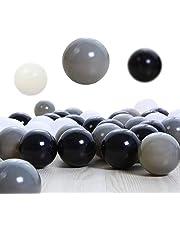 SHUO 100pcspack Free BPA Crush Proof Plastic Ball Pit Balls Colorful Fun Soft Plastic AirFilled Ocean Ball Palyballs