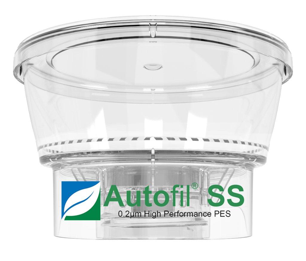 Autofil Super Speed Sterile Disposable Vacuum Bottle Top Filters with 0.2um Foxx Velocity Sterilizing PES Membrane, 250mL, 12/CS by Foxx Life Sciences