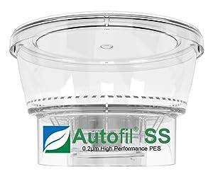 Autofil Super Speed Sterile Disposable Vacuum Bottle Top Filters with 0.2um Foxx Velocity Sterilizing PES Membrane, 250mL, 12/CS
