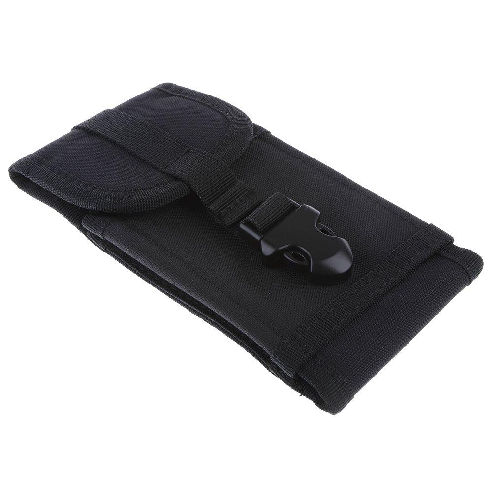 MagiDeal Sac De Taille Ceinture Sacoche Téléphone Portable Étui De Protection Millitaire Pour Homme - Noir 0020009980001FRA
