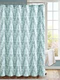 Luxury Home Painted Shower Curtain, Teal/Blue
