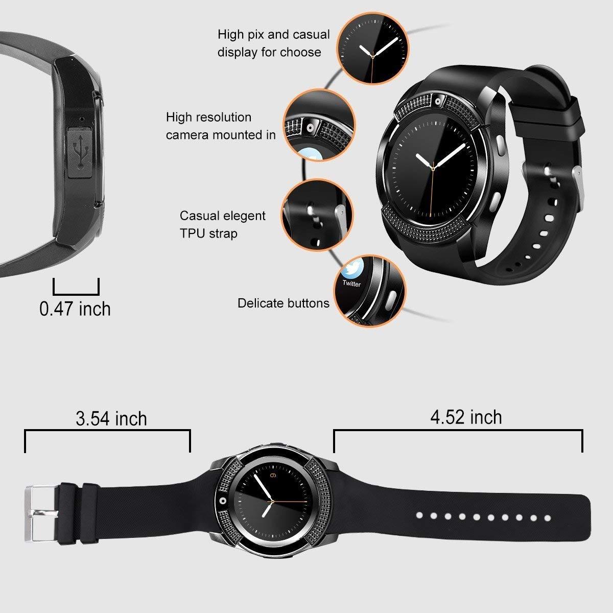 Reloj Inteligente con Pantalla táctil y Bluetooth, Relojes ...