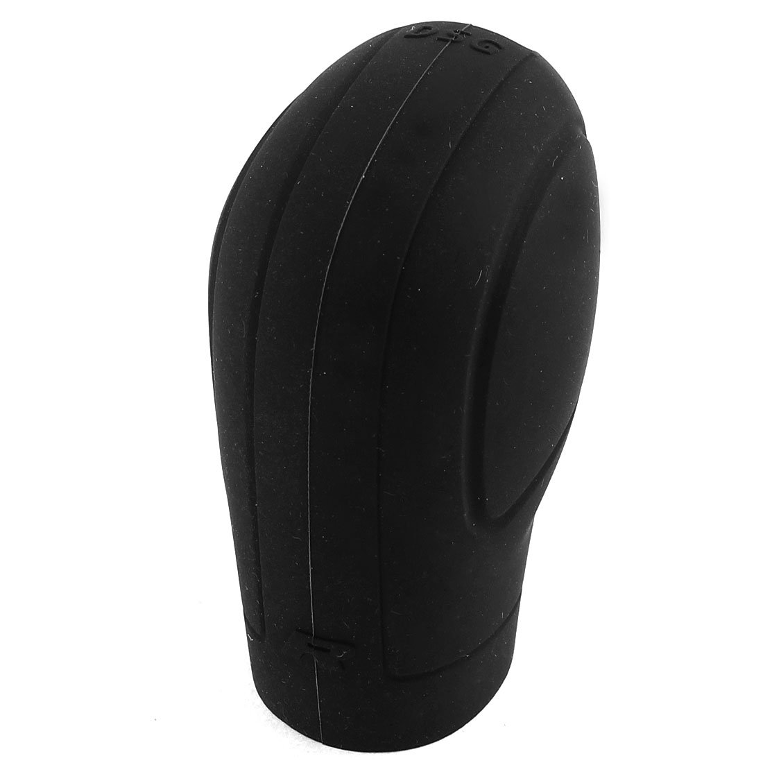 Lanlan Soft Silicone Nonslip Car Shift Knob Gear Stick Cover Protector with Trepanning Design - Black