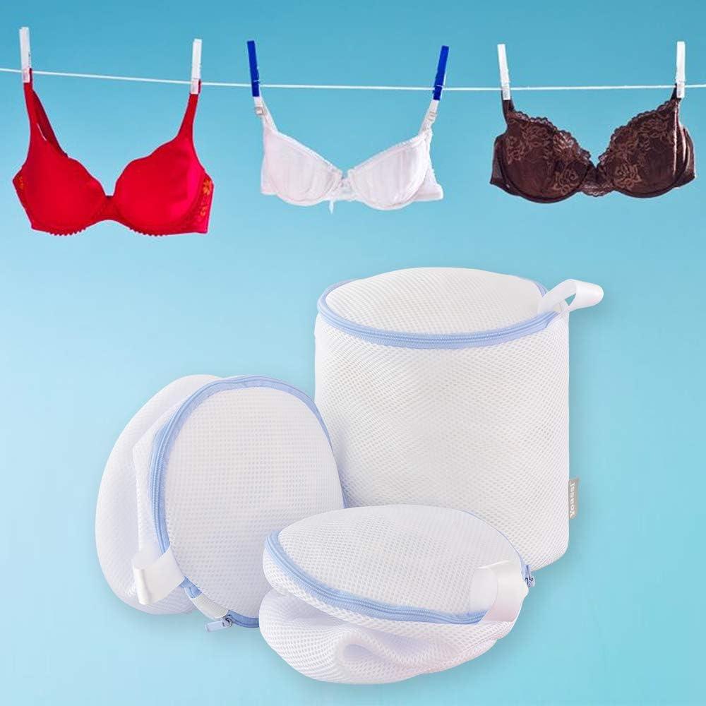 Set di 2 sacchetti per scarpe da bucato con cerniera per lavatrice Yoassi