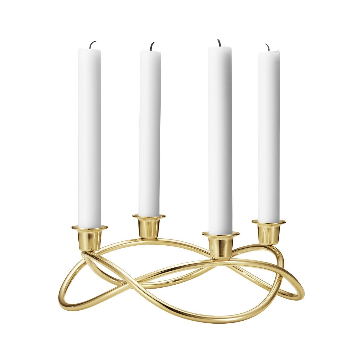 Georg Jensen Season Candle Holder, 18Kt Gold Plated Stainless Steel by Georg Jensen