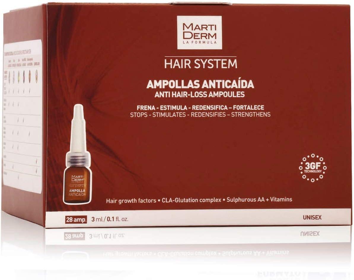 MARTIDERM S.L. - 28 Ampollas Anticaída Hair System Martiderm