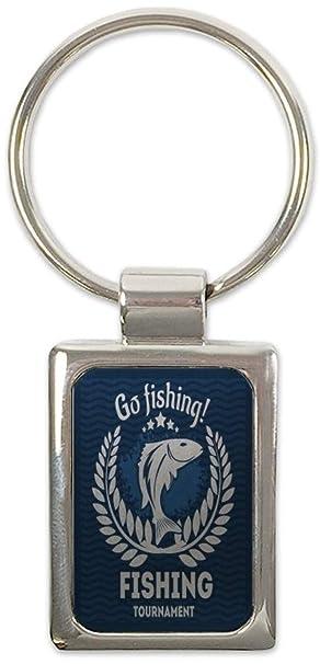 Llavero Piscis Pesca Ir de pesca impreso Pescador Casa ...