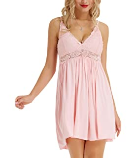 LADIES LOOSE FIT SOFT NIGHTDRESS NIGHTY CHEMISE PINK HALTERNECK  SIZE  10 12 16