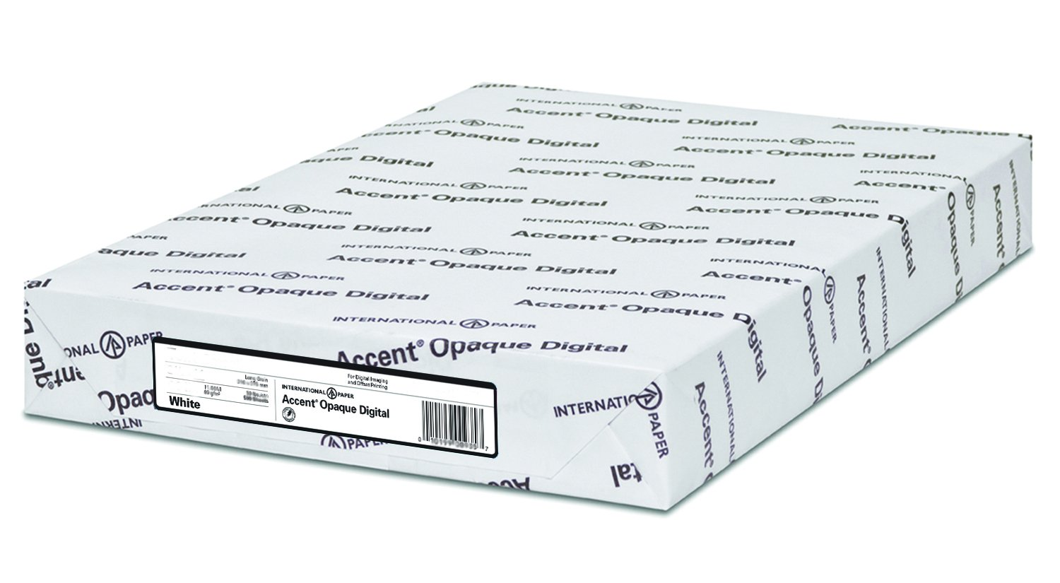 Accent Opaque, Smooth Cover White, 100lb, Letter, 8.5 x 11, 97 Bright, 200 Sheets / 1 Ream, Made in The USA