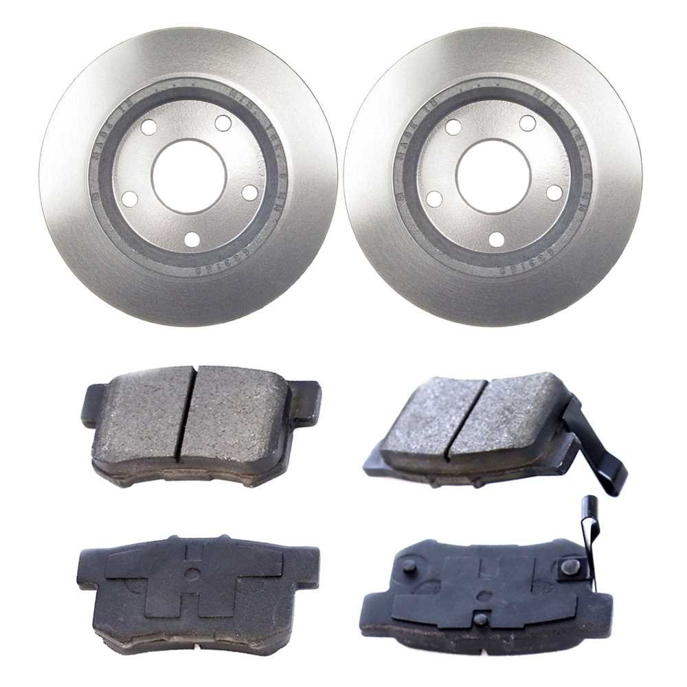 Prime Choice Auto Parts RSCD41394-41394-1005-2-4 Set of 2 Premium Rotors /& 4 Ceramic Pads