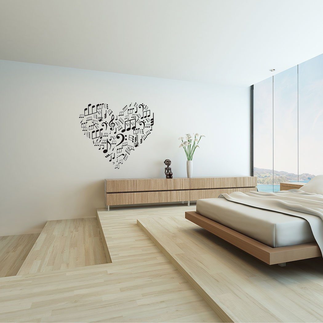 295 X 334 Fashion Love Heart With Music Notes Decoration Home