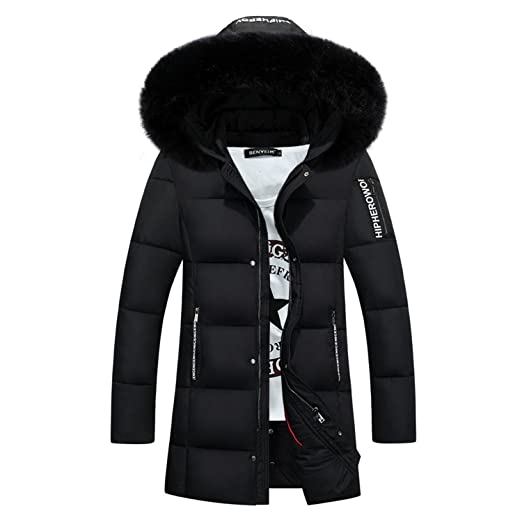 a7e53dbaf10 Amazon.com: Feilongzaitianba Parka Jacket Men Long Men Coat Thick ...