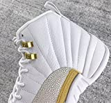 AJ 12 Retro Mens Momen White/Gold OVO White Leather Basketball Shoes