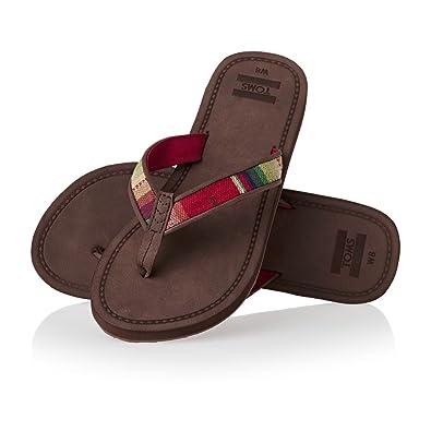 8a3d8d063252 TOMS Women s Solana Flip Flop Brown Multi Textile 5 ...