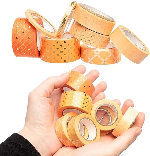 30 Rolls Assorted Thick /& Thin Washi Masking Tape Set By Little B Bulk DIY Craft