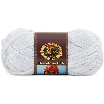 Amazon Lion Brand Yarn 135 100r Hometown Usa Yarn New York White