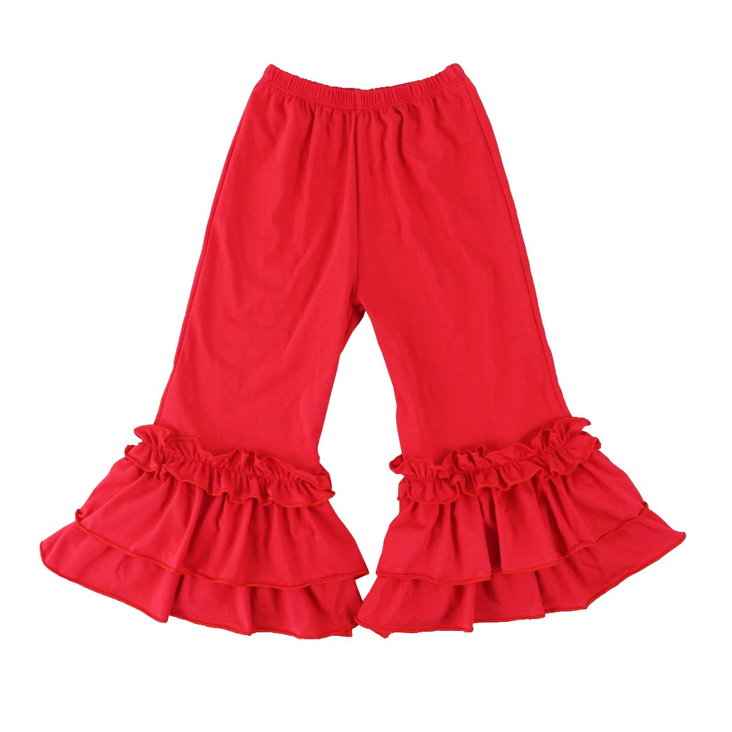 Wennikids Infant / Toddler Girls Stretchy Flare Pants w/ Ruffles 1-6T LC-RS-596