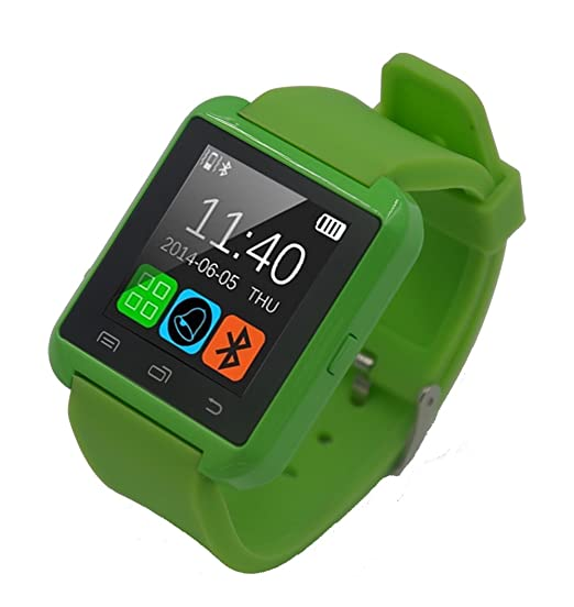 FunnTech Smart Watch with Bluetooth Pedometer Sleep Monitor Activity Tracker Fitness Tracker (Green)