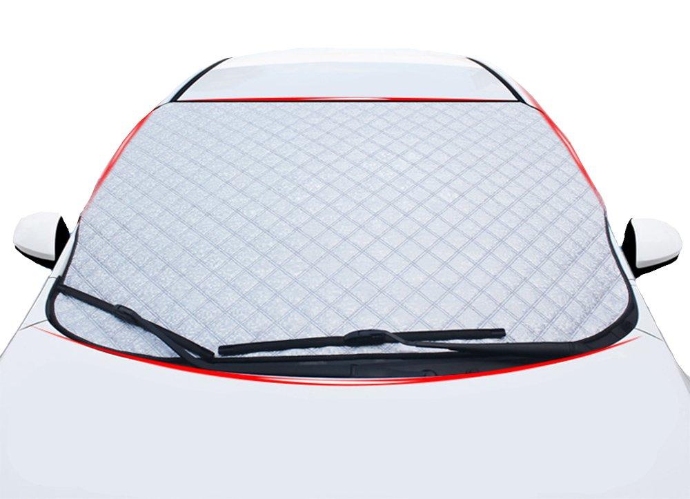 厚み付け車雪カバーフロントガラスIce Rain Water Frost耐性、アウトドア防塵サンシェードプロテクターほとんどの車( 36.6