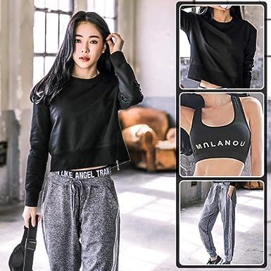 MezzenoMujer Yoga Conjuntos Yoga Camiseta Pantalones Running ...