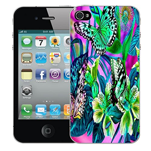 Mobile Case Mate iPhone 4 clip on Dur Coque couverture case cover Pare-chocs - in the garden Motif avec Stylet