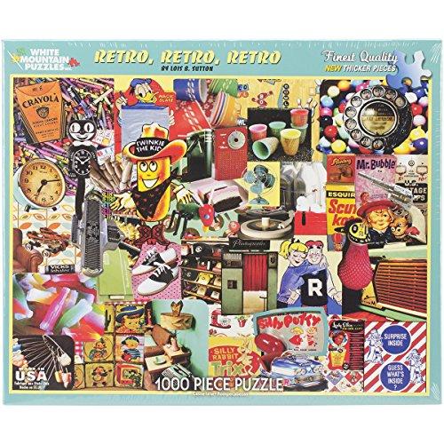 White Mountain Puzzles Retro, Retro, Retro - 1000 Piece Jigsaw Puzzle