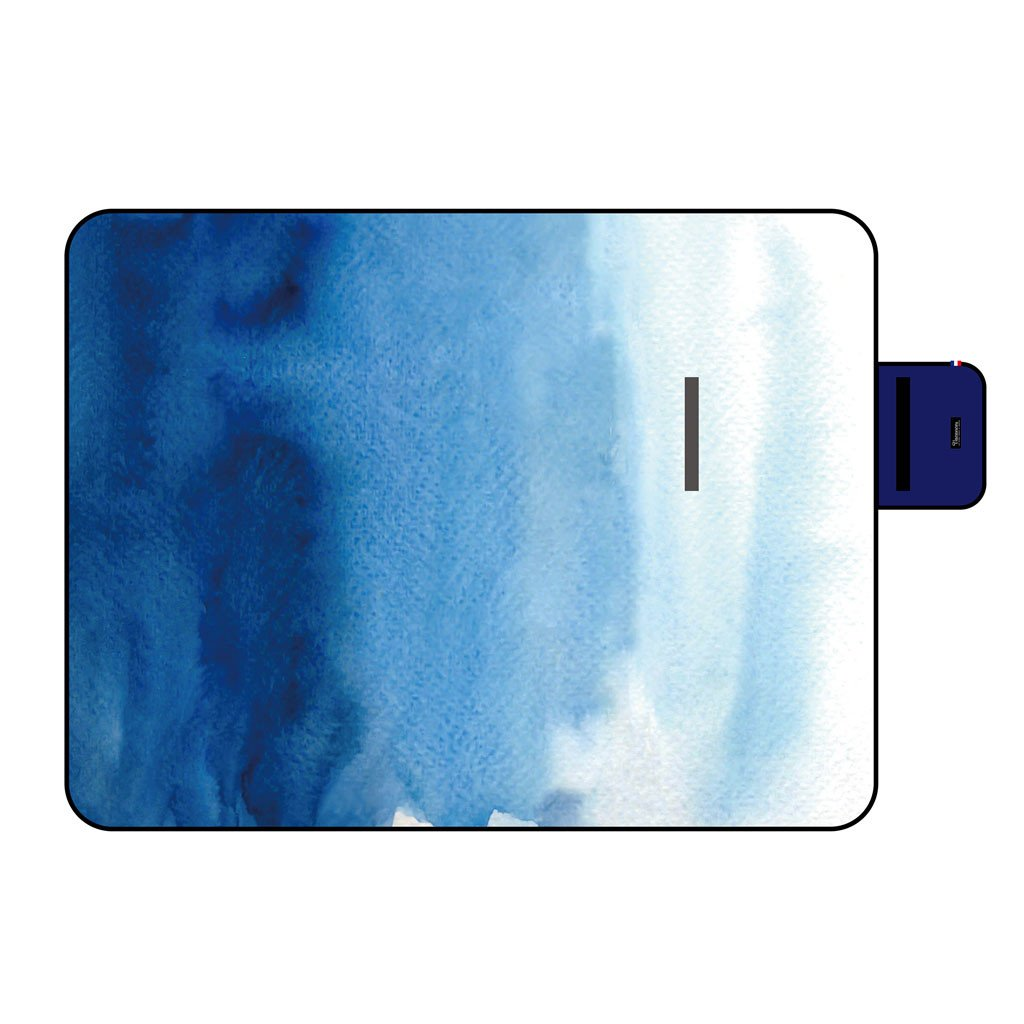 Time Concept Vacances Moisture-Resistant Picnic Mat - Compact, Lightweight - Ocean Blue
