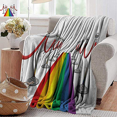 (XavieraDoherty Beach Blanket,Pride,Colorful Carpet and Stanchions Ceremony Community Gay Parade Important Event Image,Multicolor,Cozy and Durable Fabric-Machine Washable)