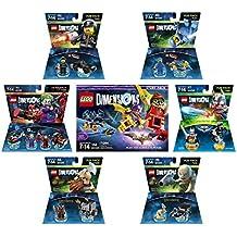Lego Batman Movie Story Pack + Excalibur Batman + The Joker & Harley Quinn Team Pack + The Lego Movie Bad Cop & Benny Fun Packs + The Lord Of The Rings Gimli & Gollum fun packs - LEGO Dimensions