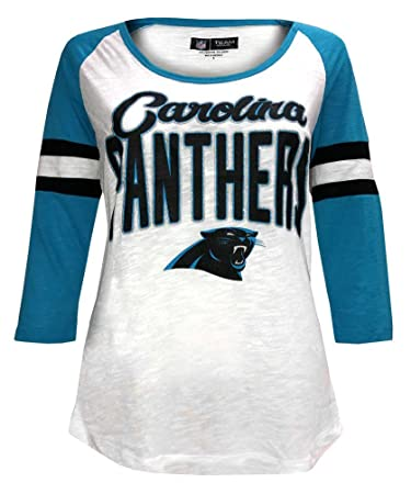 New Era Women s NFL Carolina Panthers Scoop Neck T-Shirt 3 4 Sleeve 78030L 9c8c5073f
