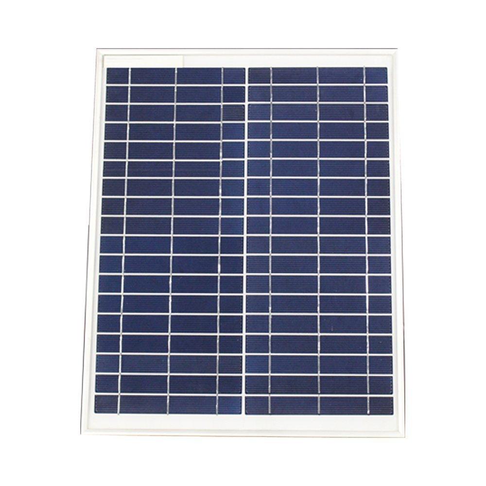 Sayes 40,6/cm DC ventilatore solare con funzione di illuminazione a LED bianco