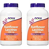 Now Foods Sunflower Lecithin 1200mg, 200 Softgels, pack of 2