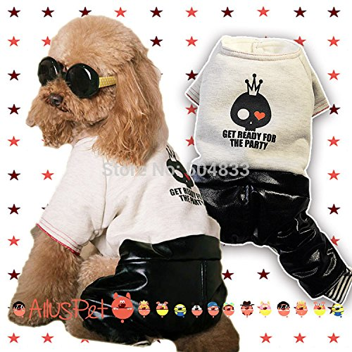 (WeMore(TM)Cool dogs disco costume pets doggie party cosplay jumpsuit clothes pet festival products)