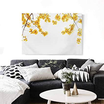 Amazon Com Yellow Wall Paintings Flower Tree Branches Bloom