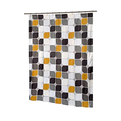 Carnation Home Fashions Metro Extra Long Printed Fabric Shower Curtain 70 Inch By 84