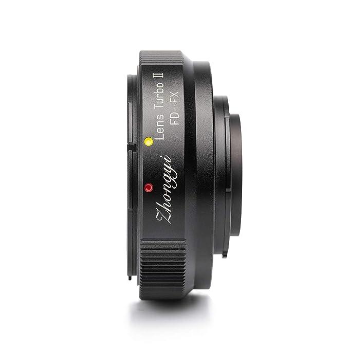 Zhongyi Lens Turbo adaptador de objetivo II adaptador de objetivos para Canon FD a Fujifilm X Mount cámara como Fuji X-T1, X DVB-T2, X T20, T100, A2, ...