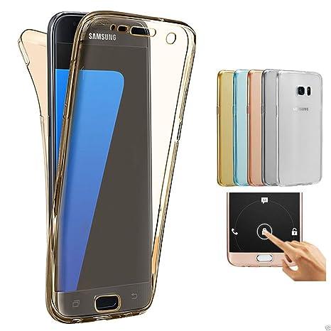 2ndSpring Samsung Galaxy J3 2017 / J3 Prime Funda, 360 Grados Doble Delantera + Trasera De Gel Integral Silicona TPU Carcasa Case Cover para Samsung ...