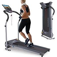 Kinetic Sports Laufband 500 Watt leiser Elektromotor, bis 120 kg, GEH- und Lauftraining, Tablethalterung, stufenlos einstellbar bis 10 km/h, klappbar