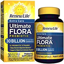 Renew Life - Ultimate Flora Probiotic Extra Care - 30 billion - daily digestive and immune health supplement - 30 vegetable capsules