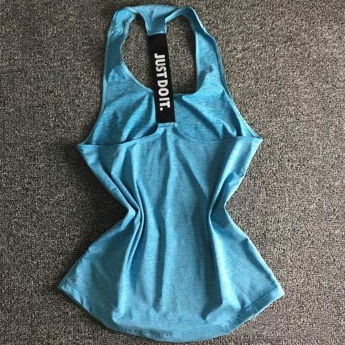 SGYHPL Frauen Yoga Top Gym Sport Weste Ärmellose Shirts Tanktops Sport Top Fitness Frauen Laufbekleidung Unterhemden Xs Blau