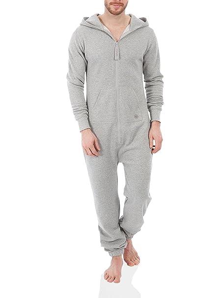 Zipups Mono-Pijama Gris Jaspeado M