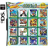 DALUHE 482 in 1 Game Cartridge, DS Game Pack Card Compilations, Super Combo Multicart for DS NDS NDSL NDSi 3DS XL New