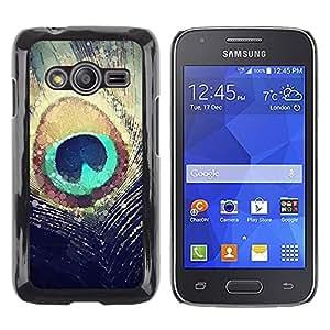 iKiki Tech / Estuche rígido - Feather Sun Iridescent Teal - Samsung Galaxy Ace 4 G313 SM-G313F