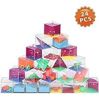 24 Pezzi Maze Ball Grande, Labirinto Tridimensionale Original Puzzle di Giocattoli per Bambini, Palla 3D Labirinto Giocattoli Educativi per Feste Forniture Ragazza Ragazzo Regalo di Compleanno