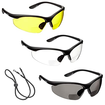 0378fda4bf6 3 x voltX  CONSTRUCTOR  BIFOCAL Reading Safety Glasses (+1.5 Dioptre Clear