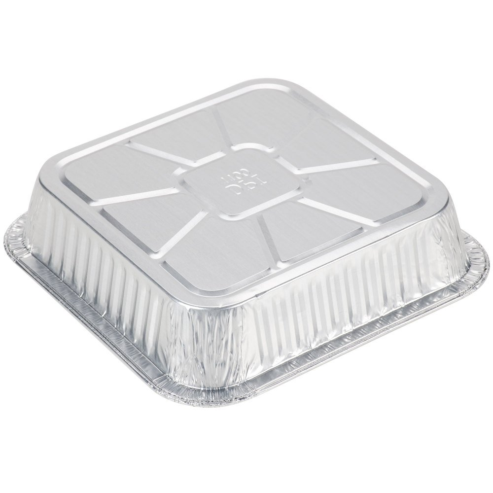 Durable Packaging Disposable Aluminum Square Cake Pan, 8'' x 8'' x 1-3/4'' (Pack of 500) by Durable Packaging (Image #2)