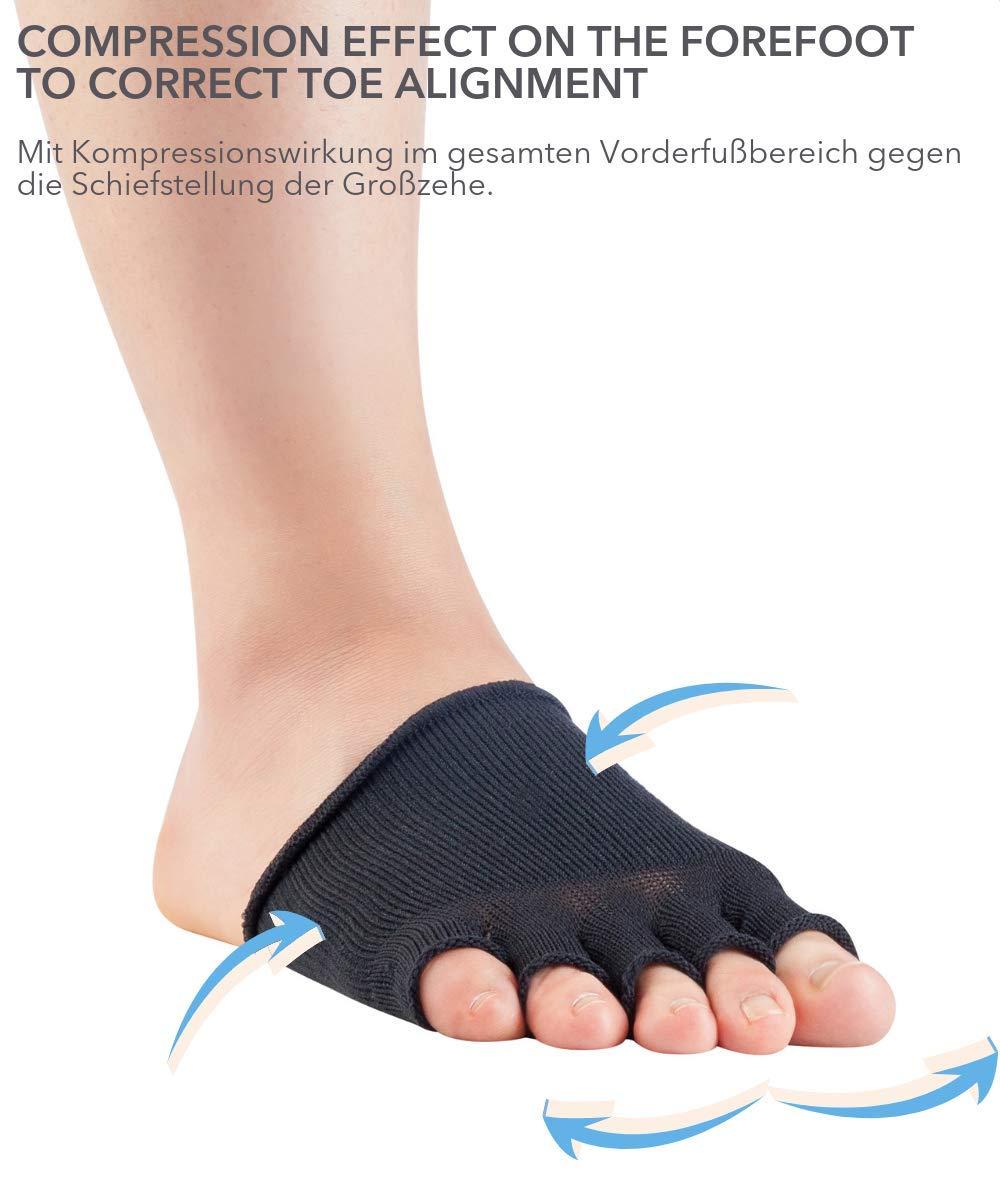 Knitido Dr Banda el/ástica metatarsal de medio dedo para Juanetes Foot/® Hallux Valgus