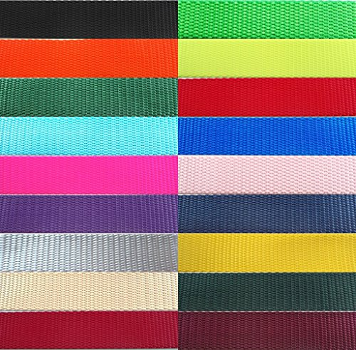 "Nylon Webbing Heavy - Heavy Nylon Webbing available in ½"", 5/8"", ¾"", 1"", 1 ½"" and 2"" Widths. In lots of 1 yard, 5 yards, 10 yards, 20 yards and 50 yards. (I/2"
