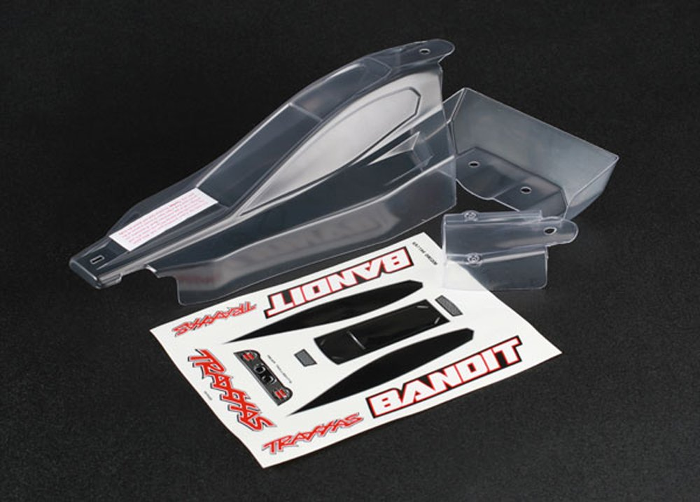 Traxxas 2417 Clear Bandit Body with Decal Sheet and Wing