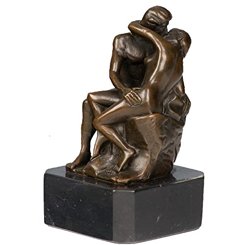 Toperkin Classical Metal Statue Rodin Artwork Kiss Bronze Sculpture TPY-347